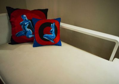 blue ladies cushions